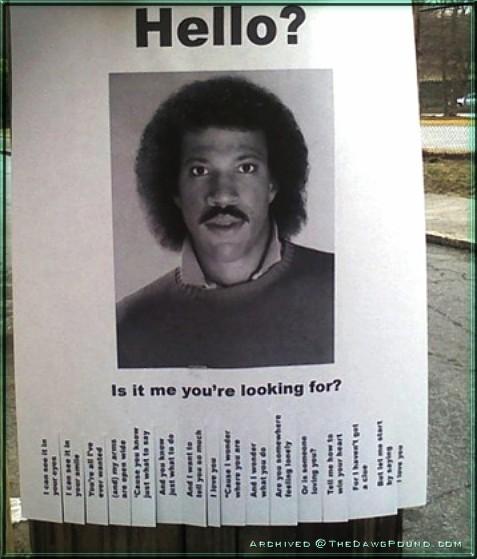 Lionel Richie Hello Lost Poster