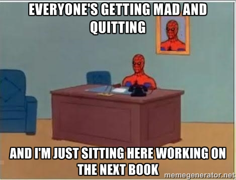 Spiderman Desk Meme